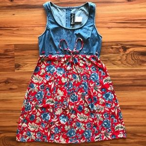 Vintage 90s all that jazz floral baby doll dress